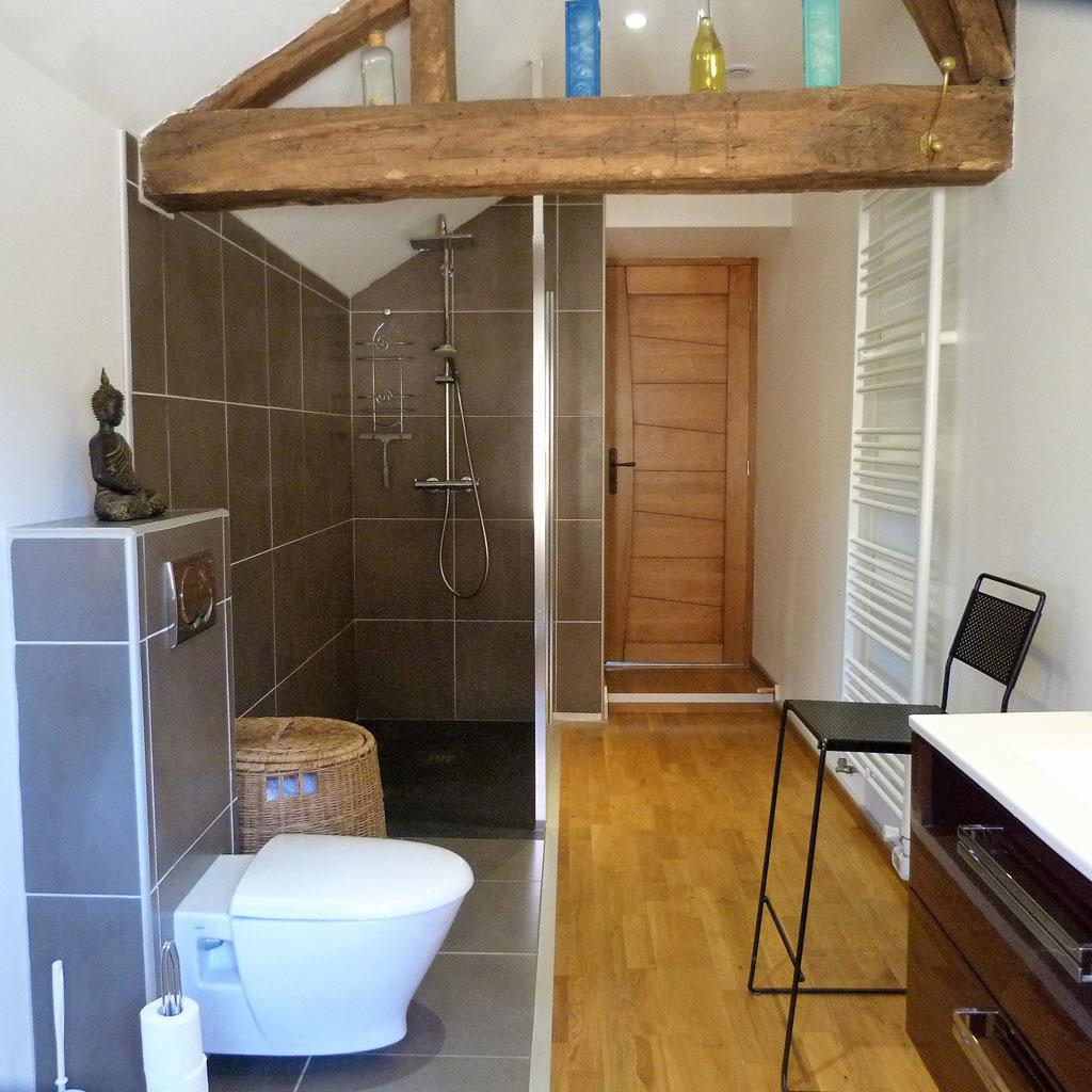 Salle de bain du Gîte de la Presqu